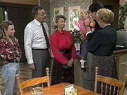 Gemma Ramsay, Harold Bishop, Helen Daniels, Sky Mangel, Joe Mangel, Madge Bishop in Neighbours Episode 1319