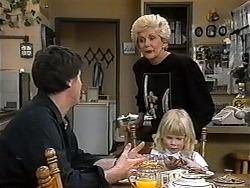 Joe Mangel, Madge Bishop, Sky Mangel in Neighbours Episode 1319