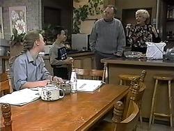 Gemma Ramsay, Toby Mangel, Harold Bishop, Madge Bishop in Neighbours Episode 1319