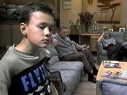 Toby Mangel, Harold Bishop, Gemma Ramsay in Neighbours Episode 1319