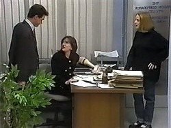 Paul Robinson, Christina Alessi, Melanie Pearson in Neighbours Episode 1320