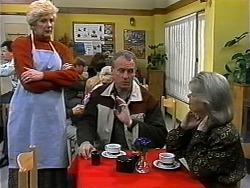 Madge Bishop, Jim Robinson, Helen Daniels in Neighbours Episode 1321