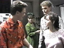 Paul Robinson, Christina Alessi, Adam Willis, Caroline Alessi in Neighbours Episode 1322