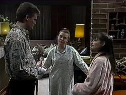 Adam Willis, Melissa Jarrett, Cody Willis in Neighbours Episode 1323