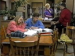 Gemma Ramsay, Ryan McLachlan, Madge Bishop, Harold Bishop in Neighbours Episode 1324