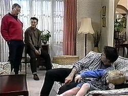 Harold Bishop, Matt Robinson, Joe Mangel, Sky Bishop in Neighbours Episode 1324