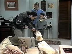 Dorothy Burke, Ryan McLachlan, Toby Mangel, Bouncer in Neighbours Episode 1324