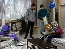 Madge Bishop, Joe Mangel, Eric Jensen, Harold Bishop, Sky Bishop in Neighbours Episode 1324