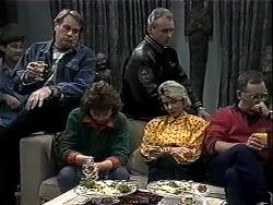 Ryan McLachlan, Doug Willis, Pam Willis, Jim Robinson, Helen Daniels, Harold Bishop in Neighbours Episode 1324