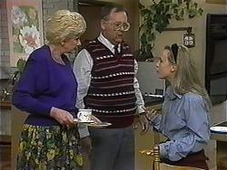 Madge Bishop, Harold Bishop, Gemma Ramsay in Neighbours Episode 1325