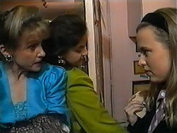 Felicity Brent, Mrs. Featherstone, Gemma Ramsay in Neighbours Episode 1325