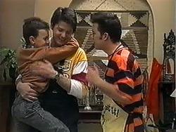 Toby Mangel, Joe Mangel, Matt Robinson in Neighbours Episode 1325