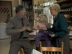 Harold Bishop, Sky Bishop, Madge Bishop in Neighbours Episode 1326