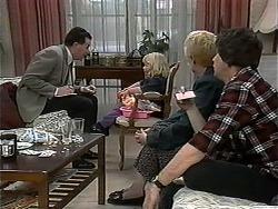 Anthony Reeves, Sky Mangel, Madge Bishop, Joe Mangel in Neighbours Episode 1326