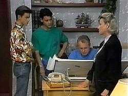 Todd Landers, Josh Anderson, Jim Robinson, Helen Daniels in Neighbours Episode 1326