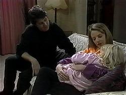 Joe Mangel, Melanie Pearson, Sky Mangel in Neighbours Episode 1327