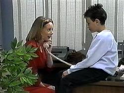 Melanie Pearson, Toby Mangel in Neighbours Episode 1327