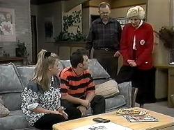 Gemma Ramsay, Matt Robinson, Harold Bishop, Madge Bishop in Neighbours Episode 1327
