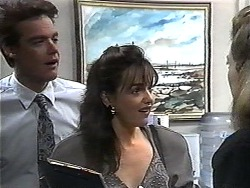 Paul Robinson, Caroline Alessi, Melanie Pearson in Neighbours Episode 1329