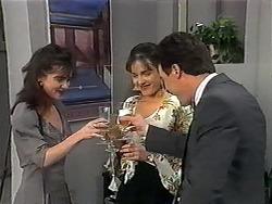Caroline Alessi, Christina Alessi, Paul Robinson in Neighbours Episode 1329