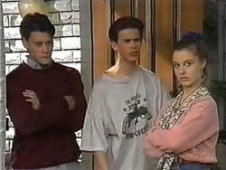 Josh Anderson, Todd Landers, Melissa Jarrett in Neighbours Episode 1329