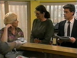 Madge Bishop, Dorothy Burke, Paul Robinson in Neighbours Episode 1334