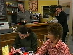 Harold Bishop, Dorothy Burke, Pam Willis, Paul Robinson in Neighbours Episode 1334