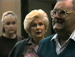 Libby Markham, Madge Bishop, Harold Bishop in Neighbours Episode 1338