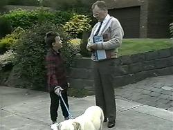 Toby Mangel, Bouncer, Harold Bishop in Neighbours Episode 1338
