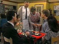 Paul Robinson, Christina Alessi, Harold Bishop, Vera Carmichael, Adam Willis, Caroline Alessi in Neighbours Episode 1339