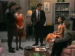 Rory Marsden, Christina Alessi, Paul Robinson, Caroline Alessi, Adam Willis in Neighbours Episode 1339