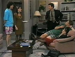 Rory Marsden, Christina Alessi, Paul Robinson, Adam Willis, Caroline Alessi in Neighbours Episode 1340