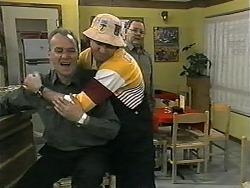 Jim Robinson, Joe Mangel, Harold Bishop in Neighbours Episode 1340