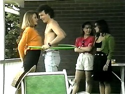 Melanie Pearson, Rory Marsden, Caroline Alessi, Christina Alessi in Neighbours Episode 1341