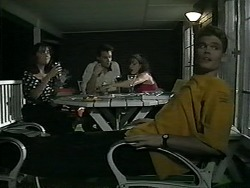 Caroline Alessi, Paul Robinson, Christina Alessi, Adam Willis in Neighbours Episode 1342