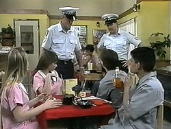 Melissa Jarrett, Cody Willis, Police Officer, Todd Landers, Josh Anderson in Neighbours Episode 1342