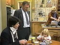 Joe Mangel, Harold Bishop, Sky Mangel, Madge Bishop in Neighbours Episode 1344