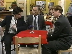 Joe Mangel, Harold Bishop, Stephen Evans in Neighbours Episode 1344