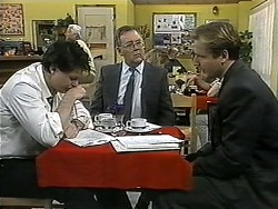 Joe Mangel, Harold Bishop, Stephen Evans in Neighbours Episode 1345