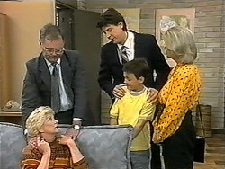 Harold Bishop, Madge Bishop, Joe Mangel, Toby Mangel, Helen Daniels in Neighbours Episode 1345