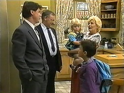 Joe Mangel, Harold Bishop, Sky Mangel, Toby Mangel, Madge Bishop in Neighbours Episode 1345