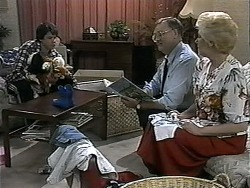Joe Mangel, Harold Bishop, Madge Bishop in Neighbours Episode 1346