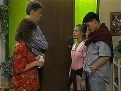 Pam Willis, Adam Willis, Melissa Jarrett, Josh Anderson in Neighbours Episode 1347