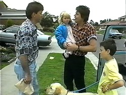 Eric Jensen, Bouncer, Sky Bishop, Joe Mangel, Toby Mangel in Neighbours Episode 1348