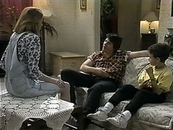Melanie Pearson, Joe Mangel, Toby Mangel in Neighbours Episode 1348