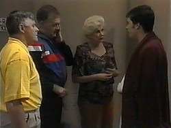 Tom Ramsay, Harold Bishop, Madge Bishop, Matt Robinson in Neighbours Episode 1350
