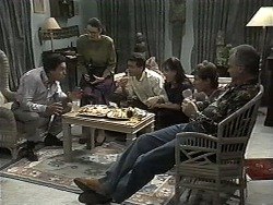 Lefty Benson, Dorothy Burke, Paul Robinson, Christina Alessi, Ryan McLachlan, Jim Robinson in Neighbours Episode 1350