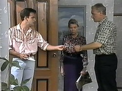 Glen Donnelly, Helen Daniels, Jim Robinson in Neighbours Episode 1350