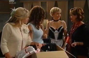 Sky Mangel, Liljana Bishop, Sindi Watts, Susan Kennedy in Neighbours Episode 4551