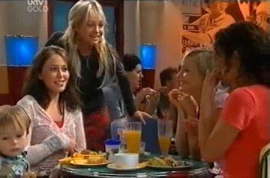 Ben Kirk, Libby Kennedy, Sky Mangel, Sindi Watts, Liljana Bishop in Neighbours Episode 4551